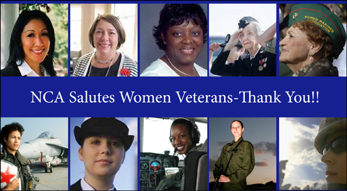 NCA Honors Women Veterans for Women's History Month