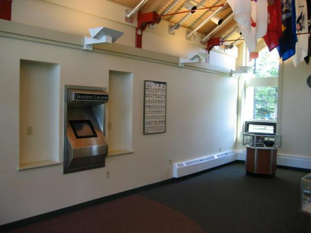 Picture of a cemetery's public information center