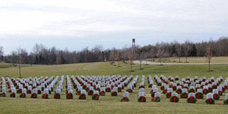 Wreaths Across America - 2009 Indiana Veterans' Memorial Cemetery, Madison, Indiana