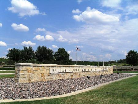 Entrance gate at Dallas-Fort Worth National Cemetery.