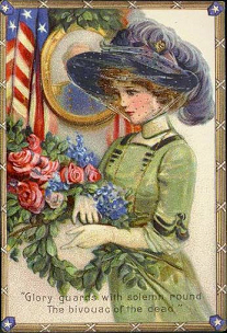 Early Decoration Day postcards by Brundage, ca.1910