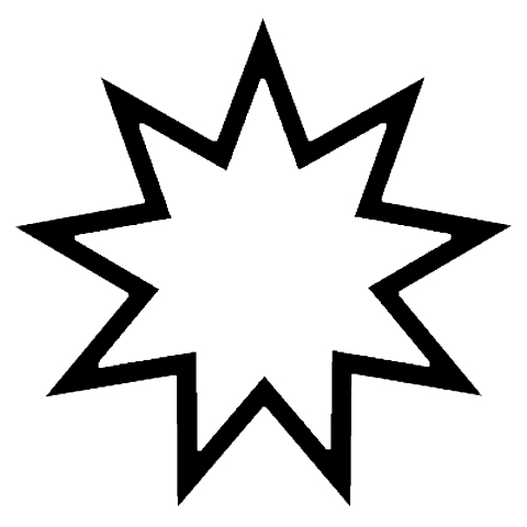 BAHAI (9 Pointed Star)