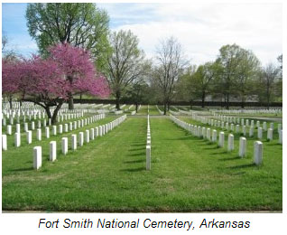 Fort Smith National Cemetery, Arkansas.