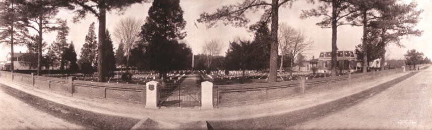 Panorama of Seven Pines National Cemetery