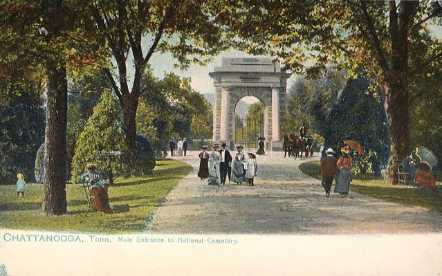 Postcard of Chattanooga National Cemetery