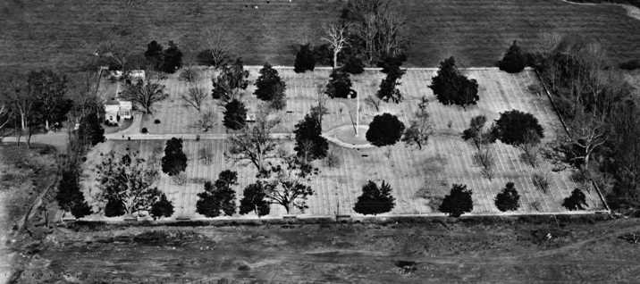 Aerial photograph of Port Hudson National Cemetery