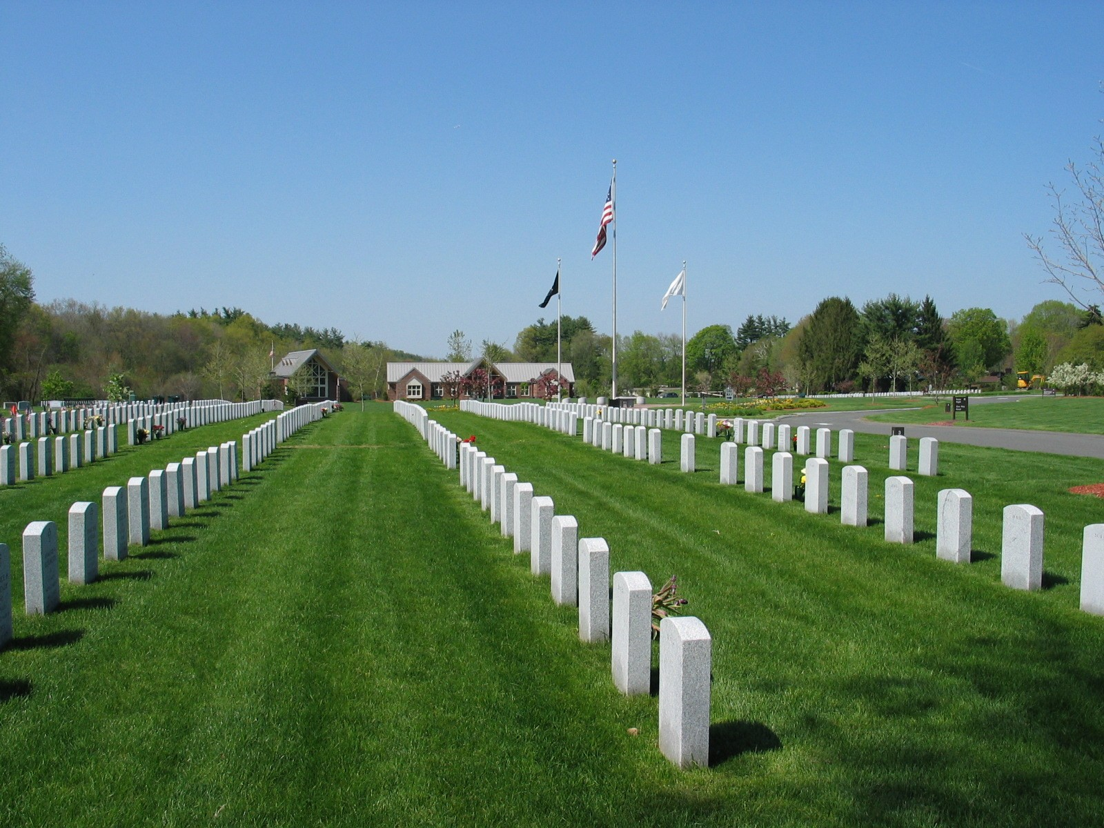Picture of a cemetery's burial area.