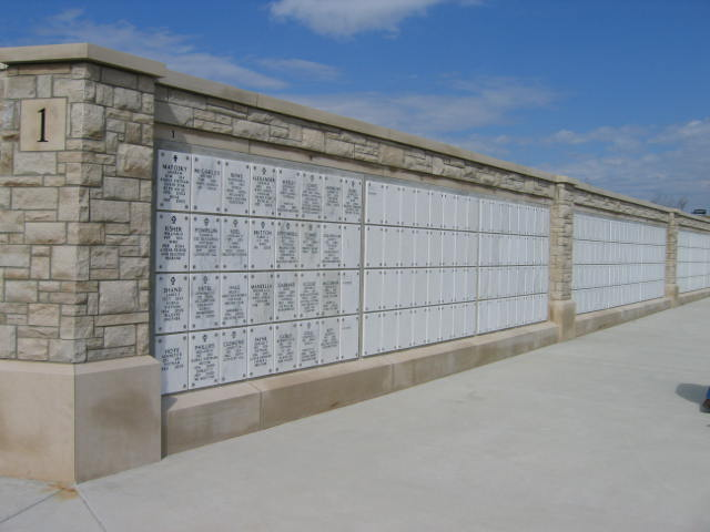 Picture of a cemetery's columbarium.