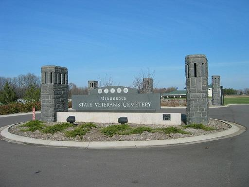 Picture of a cemetery's main entrance.