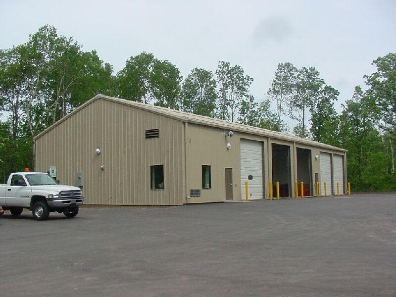 Picture of a cemetery's maintenance building.