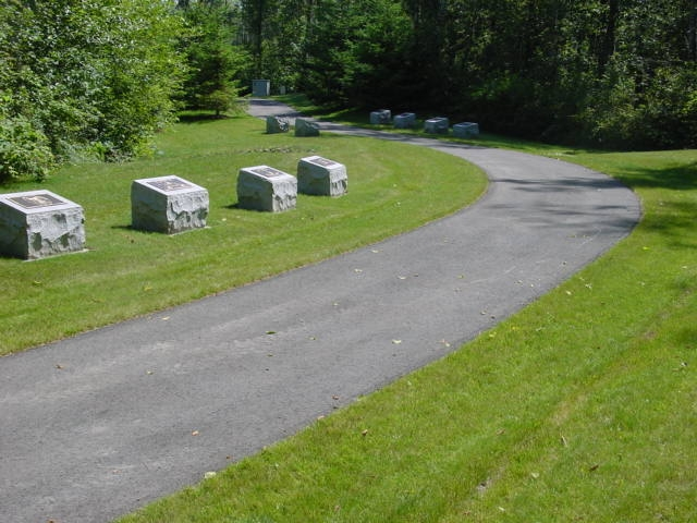 Picture of a cemetery's memorial walk.
