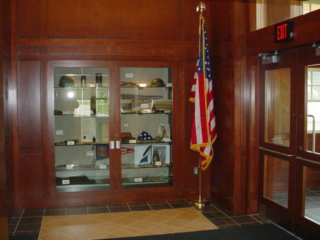 Picture of a cemetery's public information center.