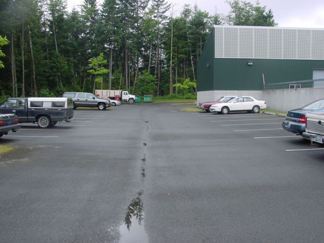 Picture of a cemetery's parking lot.
