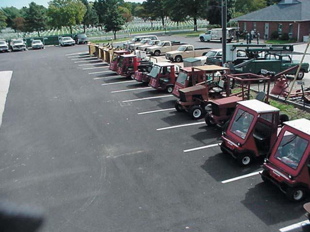 Picture of a cemetery's service yard.