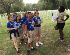 Students visit Florida National Cemetery during a Veterans Legacy Event, 2017.