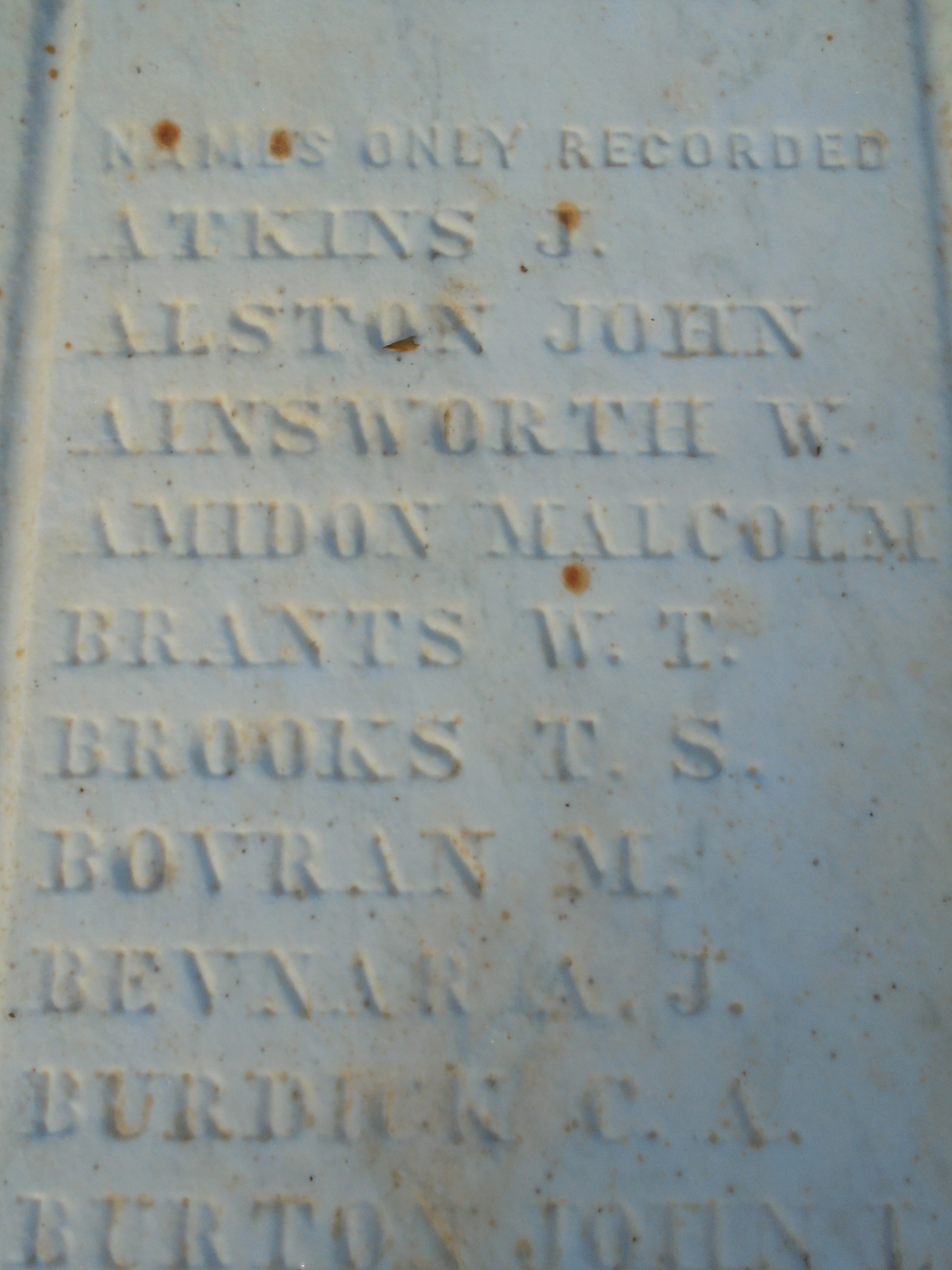 Detail from Union Soldiers Tablet (1868)