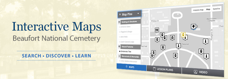 Interactive Maps - Beaufort National Cemetery