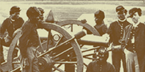 soldiers around a cannon